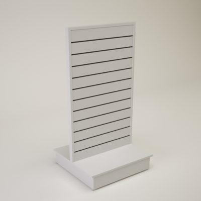 Butikkinnredning sporpanel rillepanel spacewall slatwall slatboard
